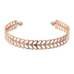Lc leaf cuff rose gold bracelet.